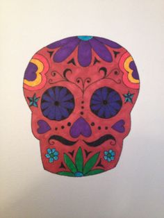 Day 18: Just A Doodle. Skull - Day Of The Dead Romantic. By Teena McDougall. 30 Day Drawing Challenge, Day Of The Dead, Doodles, Skull, Romantic, Drawings, Day Of Dead, Sketches, Romance Movies