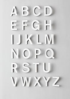 ABC by Fideli Sundqvist, via Behance Typography Letters, Typography Poster, Graphic Design Typography, Hand Lettering, Japanese Typography, Branding And Packaging, In Natura, Paper Engineering, Paper Artwork