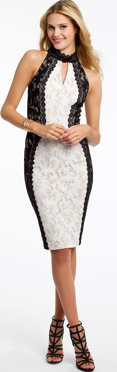 Two Tone Lace Halter