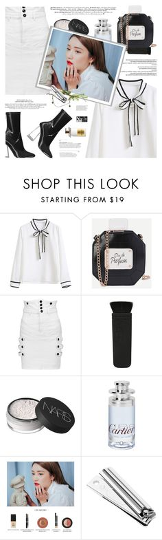 """I'm always tired but never of you"" by defivirda ❤ liked on Polyvore featuring Isabel Marant, NARS Cosmetics, Cartier, Molton Brown, makeup, Sheinside, dailymakeup and shein"