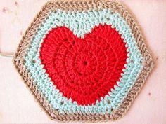 The Hearty Hexagon Crochet Motif Pattern