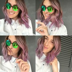 My new purple hair  #pink #hair #purple #rainbow #hair #hairstyle  snapchat simo.pastore Ig @theredmoustaches