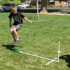 How to make a fun stomp rocket. We're going to be doing something like this at Pioneer Camp (August 16th-17th) For more information, go to our website at NationalElectronicsMuseum.org