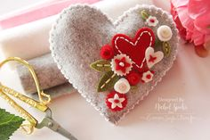 Nichol Spohr LLC: Simon Says Stamp | Felt Plush Heart Valentine's Decor