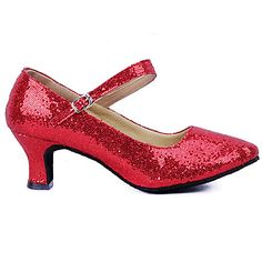 5d1abcfe2 Women s Dance Shoes Latin Sparkling Glitter Paillette Low Heel  Blue Pink Red
