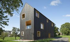 Bernardo Bader Architekten designed the House Bäumle 2, a timber home with a…