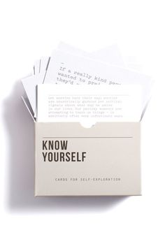 The Thinker Gift Guide | The School of Life Know Yourself Playing Cards