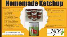 Ketchup using Tomato Powder! Homemade Ketchup, Thrive Life, Corn Syrup, Vinegar, Health Tips, Clean Eating, Spices, Good Food