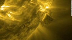 Solar flares seen from space