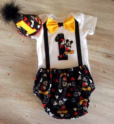 Hey, I found this really awesome Etsy listing at https://www.etsy.com/listing/212455017/cake-smash-mickey-mouse-outfit-boys-1st