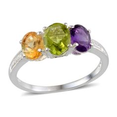 Peridot+Amethyst+Citrine++3+stone++Ring+2.65+carats+size+7+++#Unbranded+#ThreeStone http://stores.ebay.com/JEWELRY-AND-GIFTS-BY-ALICE-AND-ANN