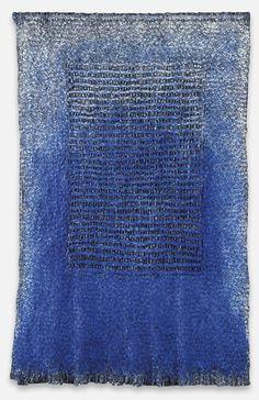 Olga de Amaral - Sombra Azul - 1998