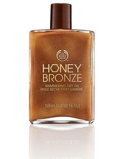 6 body shimmers to try this summer - The Body Shop Honey Bronze dry oil