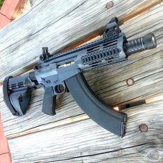 gunsdaily:@sneaky762:  Custom built MM47 Pistol 7.62x39 aka The...