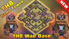 How To Defeat Town Hall 8 (TH8) War Base Bomb Tower 2016. Best TH8 War Base With Bomb Tower Defeated. Clash Of Clans TH8 Bomb Tower 2016. New update Town Hall 8 (TH8) Bomb Tower. COC TH8 War Base  Bomb Tower.  Welcome to another episode of clash of clans. In this clash of clans episode we will watch how to defeat a new TH8 War Base With Bomb Tower. After october 2016 clash of clans update a new defense called bomb tower has been added to clash of clasn TH8 war base. So we need an extra care…