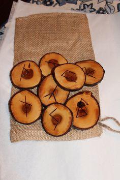 Wood Burned Cherry Elder Farhuk Runes by FairyFresh on Etsy