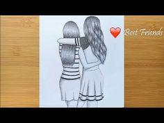 Pencil Sketch Tutorial, Pencil Sketches Easy, Pencil Sketch Drawing, Pencil Drawing Tutorials, Girl Drawing Sketches, Sketches Tutorial, Girly Drawings, Art Drawings Sketches Simple, Pencil Art Drawings