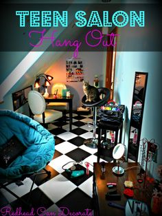 Transform a small space or attic into a Teen Salon Hang Out!