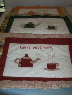 Blog de taniapatchwork :Patchwork com amor, Jogo americano patchwork com aplicacao