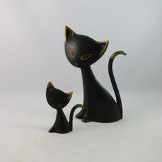 cat figurines collectibles | ... Walter Bosse Herta Baller Cat Figurines Austria — moderncraze