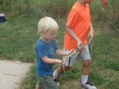 Gavin Leopold, age 4, and friend(S):  18 August 2014, Taproot Nature Experience - outing