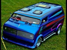"""""""Nautilus"""" custom show van Chevrolet Van, Chevy Van, Big Trucks, Chevy Trucks, Nautilus, Bedford Van, Old School Vans, Dodge Van, Vanz"""