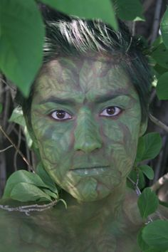 Butterfly Social Design: Green Man- Face Painting