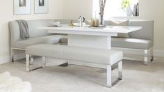 Sanza White Gloss Extending Dining Table £519.00