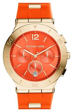 MICHAEL Michael Kors Michael Kors 'Wyatt' Chronograph Silicone Strap Watch, 40mm available at #Nordstrom