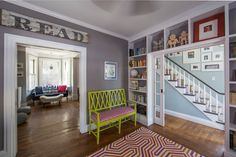 How the colors relate to one another as you move through the rooms. Joe and Alana's Newport Home Full of Bold Colors and Patterns