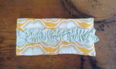 Ruffled Sunglass/Glass Pouch Yellow/Blue by Proverbs31Karen, $13.00