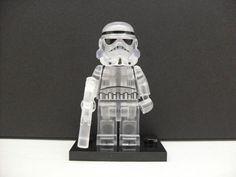 Custom LEGO Star Wars Transparent Clear Stormtrooper Minifigure Building Blocks  #LEGOCustomMade