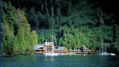 Puyuhuapi Lodge in Patagonia. Spa treatments and hikes into nearby national parks.