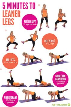 If you want leaner, toned legs in less than 5 minutes, this is your workout! In just 5 exercises you can feel the difference and get rid of the jiggle!