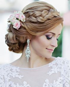 Classy updo wedding hairstyle idea; Featured: Websalon Weddings