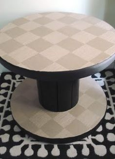 how to make a table out of wooden cable spools | Posted by amesh at 7:39 AM