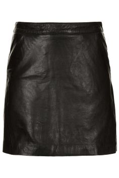 Leather A-Line Skirt - Skirts - Clothing - Topshop