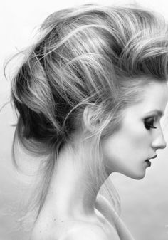 Beautiful, romantic updo with high volume