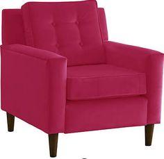 one kings lane fuschia chair