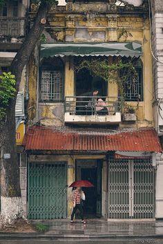 Hanoi Old quarter- summer rain - By Trung Nguyen