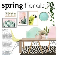 """Spring florals"" by punnky ❤ liked on Polyvore featuring interior, interiors, interior design, home, home decor, interior decorating, Ciel, Anja, CALLIGARIS and Kate Spade"