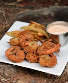 Coconut shrimp, fried in coconut oil, never tasted so good! The best part? They are gluten-free. Gluten-free coconut shrimp you say? Yes & they are great!