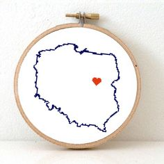 Poland Map Hand Embroidery pattern. Cross Stitch Pattern from Poland Poster. Polish art. Warsaw. Poland Souvenir. Wedding gift. Polska mapa by koekoek on Etsy https://www.etsy.com/listing/166757135/poland-map-hand-embroidery-pattern-cross