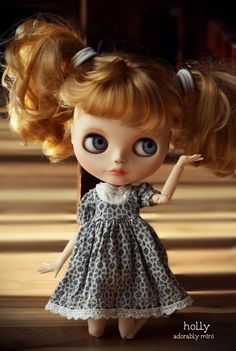 Custom Blythe Doll with Pigtails