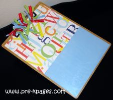 "Make your own ""altered clipboard"" for the classroom using scrapbook paper, dollar clipboard, mod podge, and ribbon- super easy!! via www.pre-kpages.com"