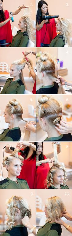 "How to get a ""Faux Bob"" - Hair Tutorial More"