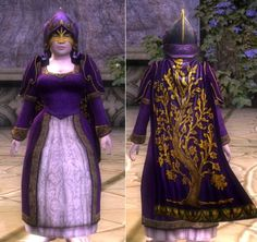 """""""Masquerade Ball""""  Fantastic use of purple and of that funny helmet!"""