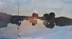 Ian Potts Artist: Sketches Watercolor Sketch, Watercolor Landscape, Watercolor Paintings, Watercolours, Winslow Homer, Andrew Wyeth, Edward Hopper, Singer Sargent, Sketches