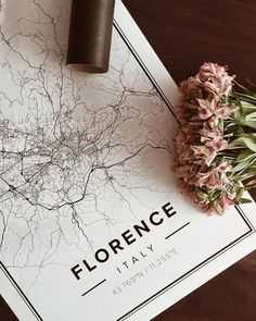 Map poster of Florence, Italy. Print size 50 x 70 cm available at Mapiful.com Personal wall art - Map-posters of your favorite city or country.
