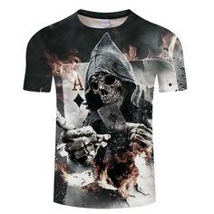 7a60b33cca6e6 Skull Poker T-Shirt. Free shipping at printeera.com  shopping  skull